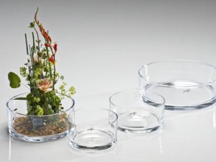 Glasschale Schwimmkerzenschale von Sandra Rich Transparent 16 cm