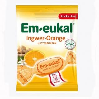 Em eukal Hustenbonbons Ingwer Orange zuckerfrei 75g 10er Pack