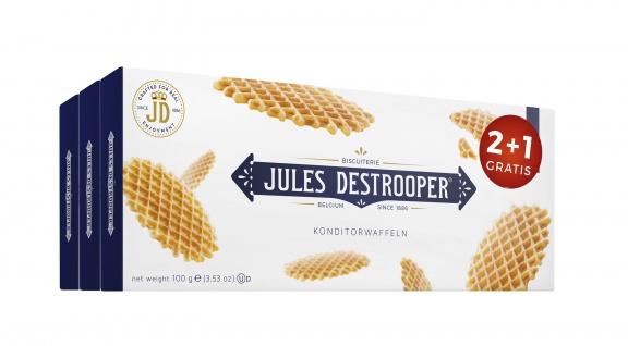 Jules Destrooper Konditorwaffeln 2 plus 1 Aktionspackung 300g