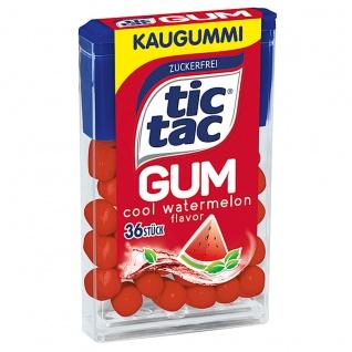 tic tac Gum cool Wassermelone Kaugummi mit Pfefferminzgeschmack 17g