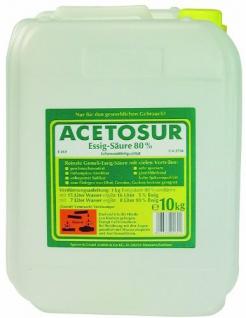 Acetosur Essig-Säure 80% hohe Spitzenqualität Kanister 10 Liter