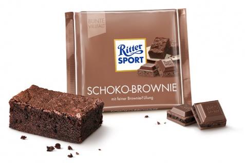 Ritter Sport Schoko Brownie mit feiner und leckerer Brownie-Füllung 100g