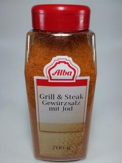 Alba Grill und Steak Gewürzsalz mit Jod 2fach Dosier Streuer 700g