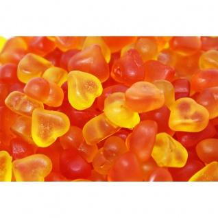 Fruchtgummi Herzen mit Pfirsich Geschmack ohne Fett gelb orange 1000g
