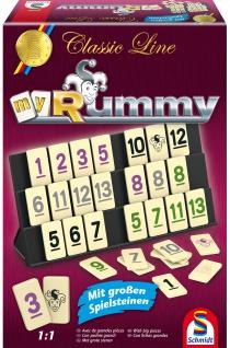 Spiel Rummy mit extra gr. Figuren.