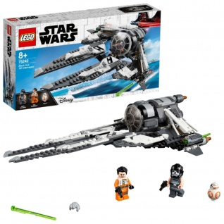 LEGO Star Wars 75242 Resistance Tie Interceptor mit Allianz Pilot