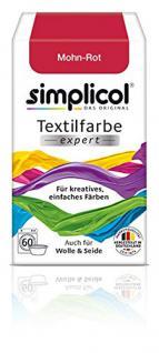 """Simplicol Textilfarbe expert -Für kreatives, einfaches Färben - 1703 """" Mohn-Rot"""" Neu! - Vorschau"""