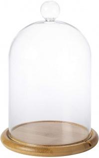 Glasglocke Zylinderglas zum dekorieren rund transparent 41cm