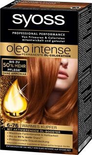 Syoss Oleo Intense 6-76 Warmes Kupfer 3er Pack