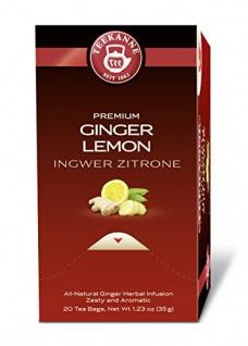 Teekanne Premium Ingwer Zitrone Ingwerteemischung im 5er Pack