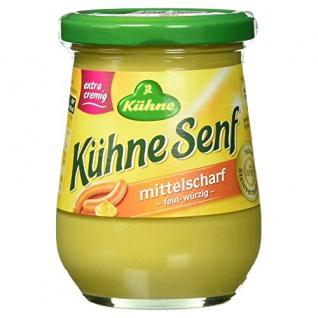 Kühne Senf extra cremig mittelscharf fein würzig im Glas 250ml