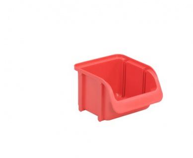 Sichtbox in Handwerksqualität Lebensmittelgeeignet Größe 1 in rot