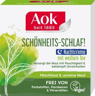AOK Nachtpflege Mischhaut & unreine Haut mit weissem Tee 50 ML