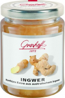Grashoff Ingwerkonfitüre Extra, 250 g, 3er Pack (3 x 250 g)
