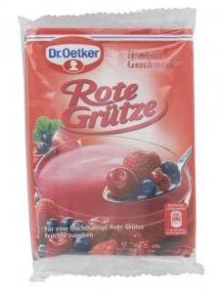 Dr. Oetker Rote Grütze Himbeer Geschmack cremig und lecker 100g