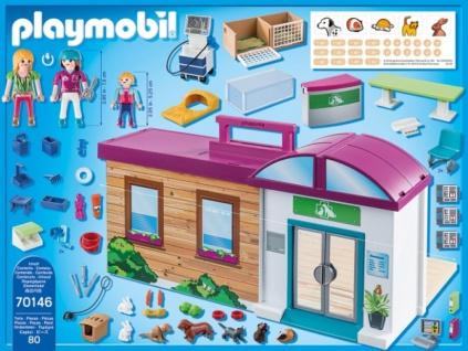 Playmobil City Life Mitnehm Tierklinik Konstruktionsspiel 70146