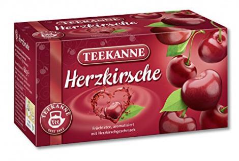 Teekanne Herzkirsche Tee Romantik mit all ihrer Süßen Vielfalt 3er Pack