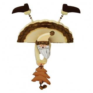 Kantenaufsteller Figur Weihnachtsmann Holz mit beweglichen Armen