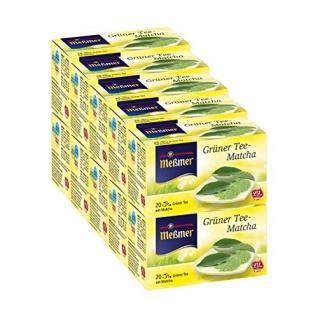 Meßmer Grüner Tee mit Matcha Genussvoller Wohlfühltee 10er Pack