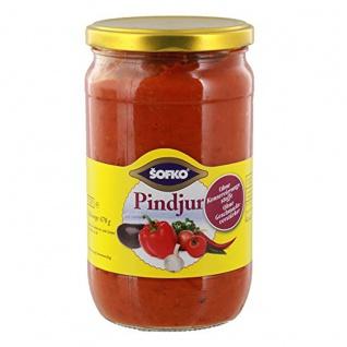 Sofko Pindjur Sauce herzhaft pikante Paprika Gewürzmischung 720ml