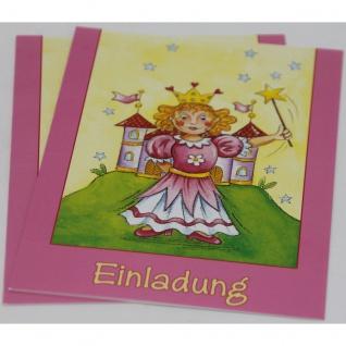 Einladungskarten Motiv Kinder Prinzessin 5 Karten und 5 Kuverts