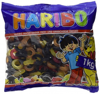 Haribo Crazy Schnuller Fruchtgummi mit Lakritz 3 Geschmacksrichtungen 1000g