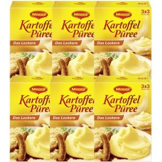Maggi Kartoffel Püree Die klassiche Beilage 3 Portionen 3x80g 6er Pack