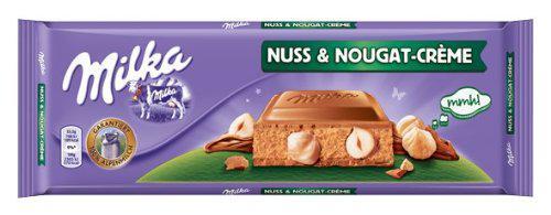 Milka Nuss-Nougat-Creme, Tafelschokolade, 300g, 4er Pack (4x 300 g)