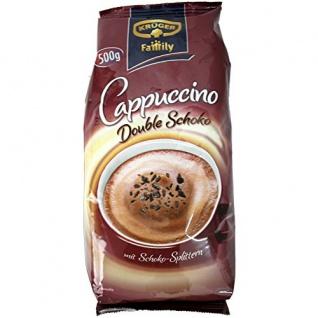 Krüger Family Cappuccino Double Choco 500g mit Schoko-Splittern 1er Pack