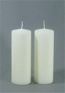 2er-Set Stumpenkerze 20 x 7 cm elfenbein - 4702 - Kerzenrohling 200/70 mm - Kerze Rund 20x7 - Vorschau