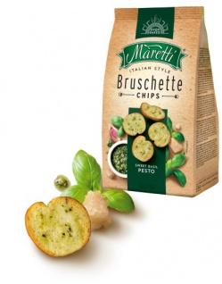 Maretti Bruschette Sweet Basil Pesto Gebackene Weißbrotscheiben 150g