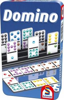 Schmidt Spiele Domino Bring Mich mit Spiel in der Metalldose bunt