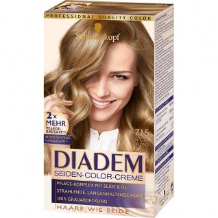 DIADEM Seiden-Color-Creme 715 Mittelblond 180ml Stufe 3