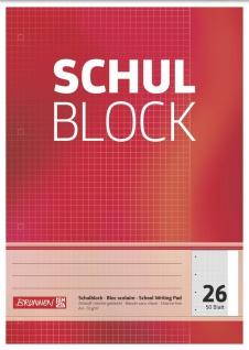 Schulblock DIN A4 Lineatur 26