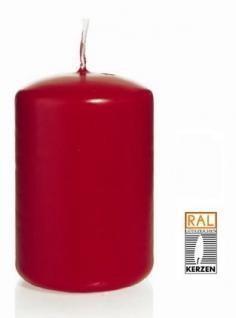 rote Stumpenkerzen, 80/200 mm, 6 Stück - Vorschau