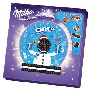 Milka Oreo knusprige und köstliche Kakaokekse Adventskalender 286g