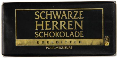 Schwarze Herren Schokolade Edelbitter 100g