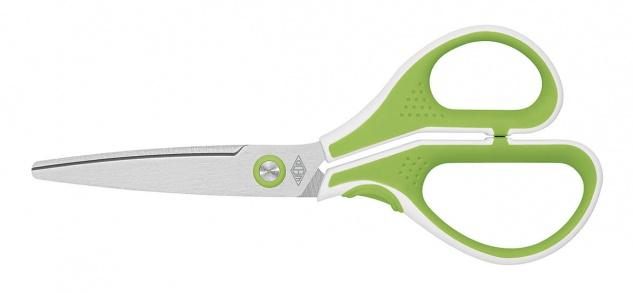 WEDO Edelstahlschere Cut It ergonomische Griffe Hellgrün Weiss 175mm