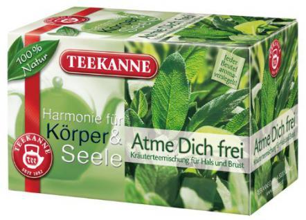 Teekanne Harmonie Atme Dich frei, Kräuterteemischung für Hals & Brust