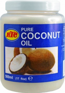 Kokosöl 100% Pur Kokosöl zum Braten KTC Pure Coconut Oil 500ml 6er Pack