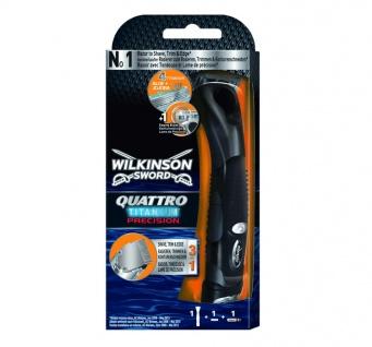 Wilkinson Sword Quattro Titanium Precision Rasierer mit 1 Klinge