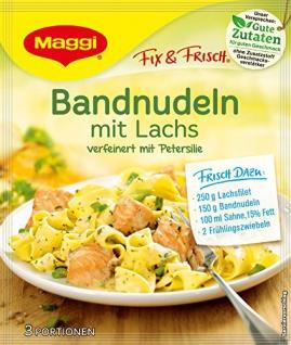 Maggi fix & frisch, Bandnudeln mit Lachs, 40 g Beutel, ergibt 3 Portionen 18 Stück