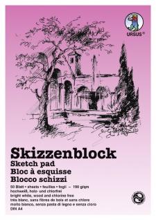 Skizzenblock 120g/qm wei DIN A4