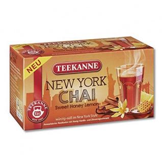 Teekanne New York Chai Sweet Honey Lemon würzig süß 20 Teebeutel