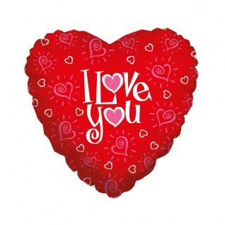 Karaloon Herz Ballon I Love You aus aluminiumbeschichteter Folie