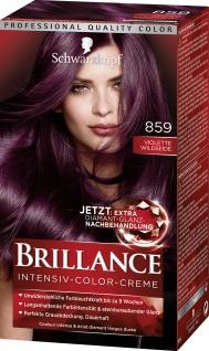 SCHWARZKOPF BRILLANCE Intensiv-Color-Creme 859 Violette Wildseide Stufe 3 143ml