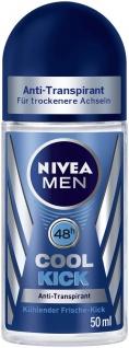 Nivea Roll on for Men Cool Kick Anti Transpirant Schutz 50ml 6er Pack