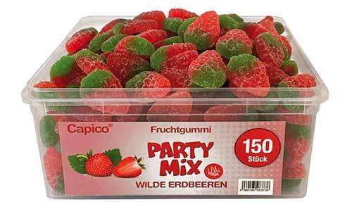 Capico Fruchtgummi Party Mix, WIlde Erdbeeren gezuckert 1000g
