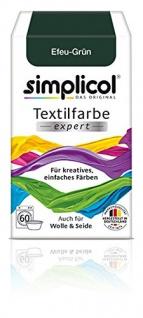"""Simplicol Textilfarbe expert -Für kreatives, einfaches Färben - 1713 """" Efeu-Grün"""" Neu!"""