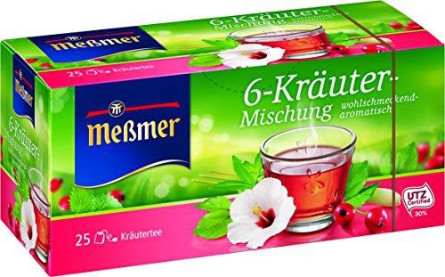 Meßmer 6 Kräuter Mischung wohlschmeckend aromatisch 25 Teebeutel